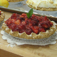 Grandma Ferrell's Strawberry & Cream Pie